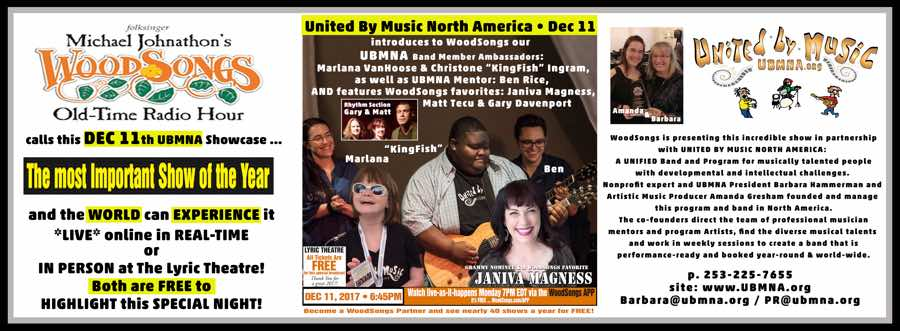 """United By Music North America Showcase: """"The most Important Show of the Year!"""" - Dec 11th"""