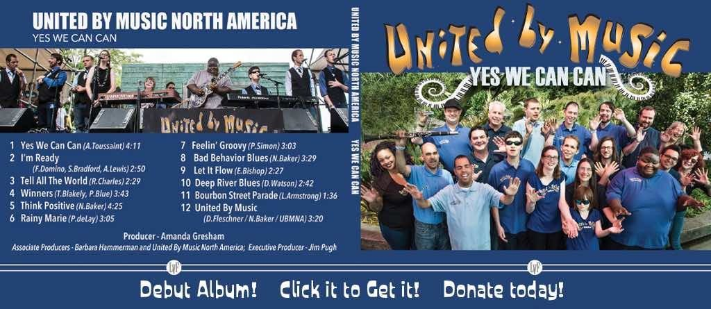 Get our debut CD by donating to our UNITY THROUGH MUSIC™ Campaign!